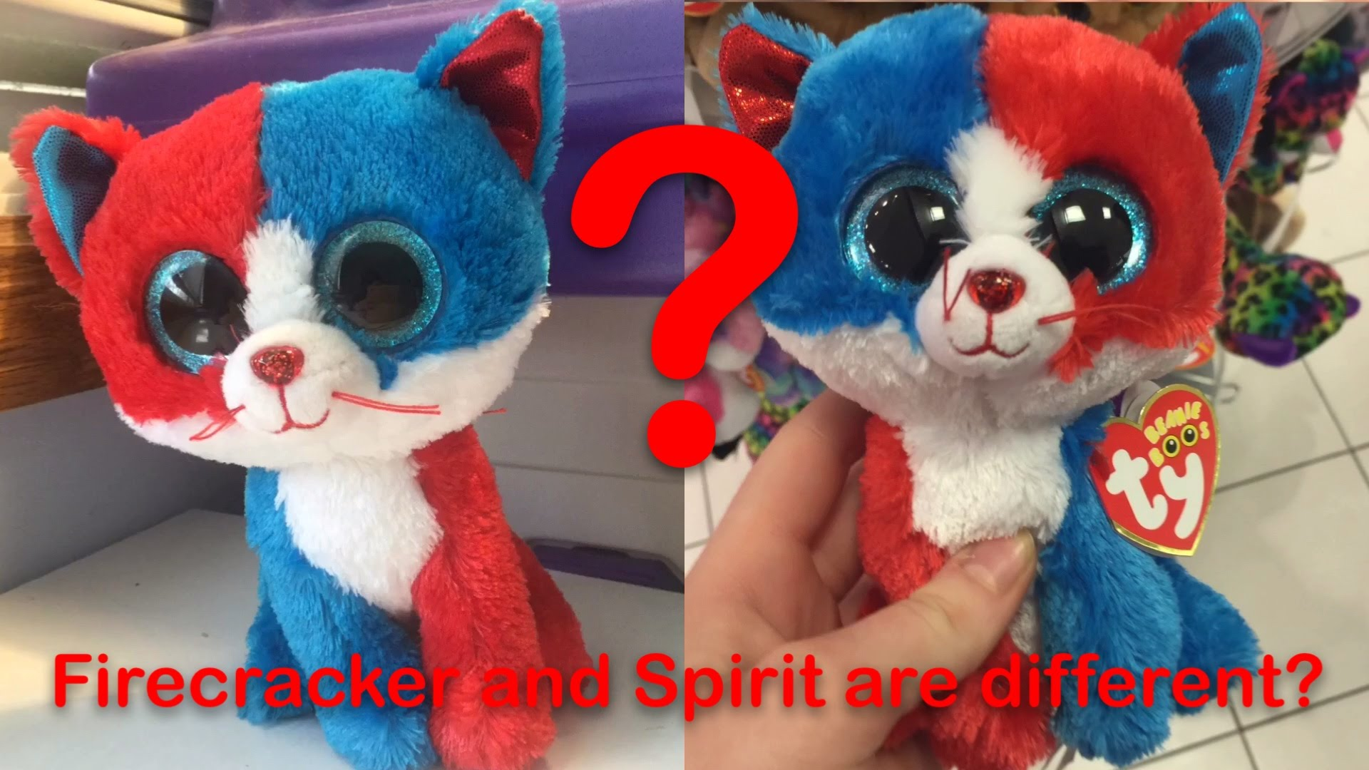 Beanie Boo Spirit And Firecracker Are Different