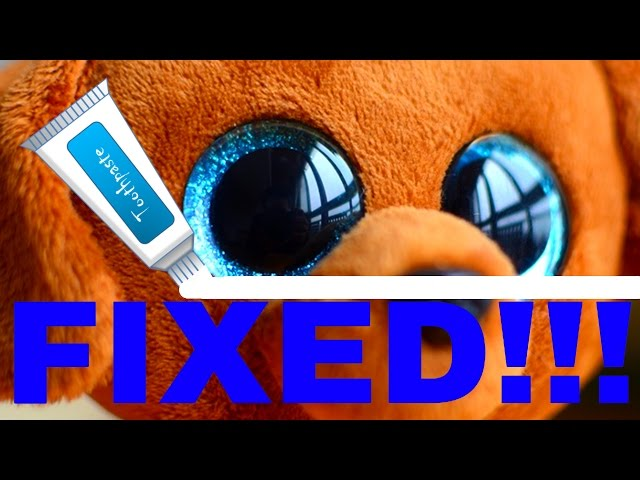 effc0e8e55d How To Get Scratches Off Your Beanie Boo s Eyes In 3 Easy Steps (Restoring  Beanie Boos)